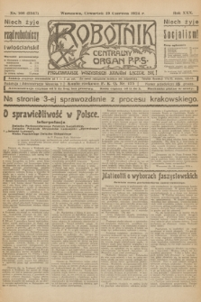 Robotnik : centralny organ P.P.S. R.30, nr 166 (19 czerwca 1924) = nr 2347
