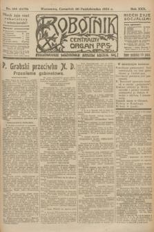 Robotnik : centralny organ P.P.S. R.30, nr 298 (30 października 1924) = nr 2479