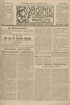 Robotnik : centralny organ P.P.S. R.30, nr 300 (1 listopada 1924) = nr 2481