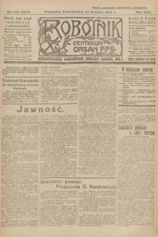Robotnik : centralny organ P.P.S. R.30, nr 349 (22 grudnia 1924) = nr 2450