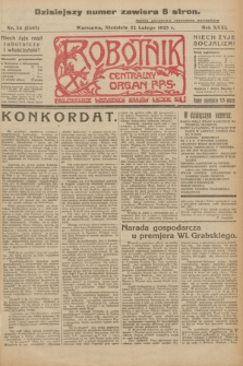 Robotnik : centralny organ P.P.S. R.31, nr 53 (22 lutego 1925) = nr 2507