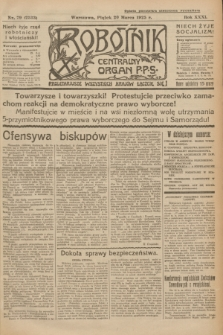 Robotnik : centralny organ P.P.S. R.31, nr 79 (20 marca 1925) = nr 2533