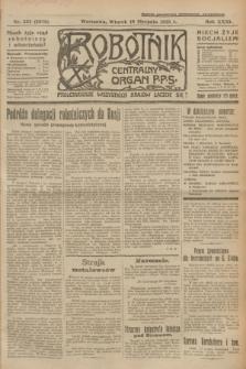 Robotnik : centralny organ P.P.S. R.31, nr 225 (18 sierpnia 1925) = nr 2678