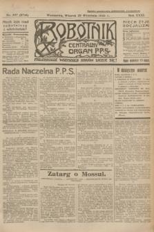 Robotnik : centralny organ P.P.S. R.31, nr 267 (29 września 1925) = nr 2710