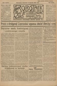 Robotnik : centralny organ P.P.S. R.32, № 14 (14 stycznia 1926) = № 2814