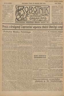 Robotnik : centralny organ P.P.S. R.32, № 20 (20 stycznia 1926) = № 2820