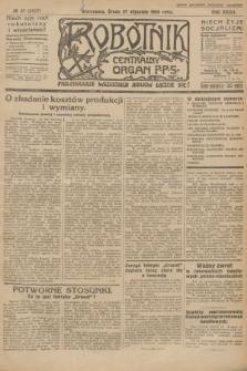 Robotnik : centralny organ P.P.S. R.32, № 27 (27 stycznia 1926) = № 2827