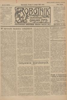 Robotnik : centralny organ P.P.S. R.32, № 34 (3 lutego 1926) = № 2834