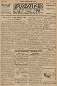 Robotnik : centralny organ P.P.S. R.32, № 47 (16 lutego 1926) = № 2847