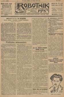 Robotnik : centralny organ P.P.S. R.32, № 51 (20 lutego 1926) = № 2851