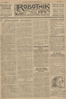 Robotnik : centralny organ P.P.S. R.32, № 57 (26 lutego 1926) = № 2857