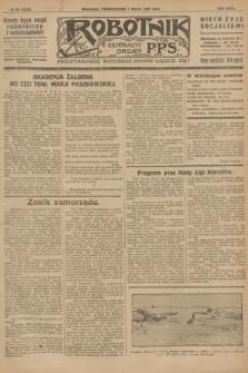 Robotnik : centralny organ P.P.S. R.32, № 60 (1 marca 1926) = № 2860