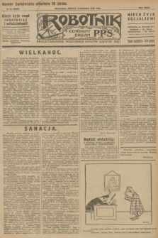 Robotnik : centralny organ P.P.S. R.32, № 93 (3 kwietnia 1926) = № 2893