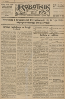 Robotnik : centralny organ P.P.S. R.32, № 95 (7 kwietnia 1926) = № 2895