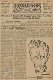 Robotnik : centralny organ P.P.S. R.32, № 108 (20 kwietnia 1926) = № 2908