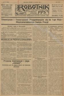 Robotnik : centralny organ P.P.S. R.32, № 115 (27 kwietnia 1926) = № 2915