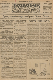 Robotnik : centralny organ P.P.S. R.32, № 141 (23 maja 1926) = № 2941