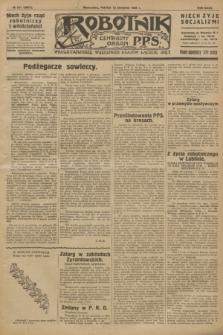 Robotnik : centralny organ P.P.S. R.32, № 221 (13 sierpnia 1926) = № 3021