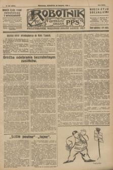Robotnik : centralny organ P.P.S. R.32, № 234 (26 sierpnia 1926) = № 3034