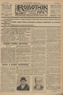 Robotnik : centralny organ P.P.S. R.32, № 241 (2 września 1926) = № 3041