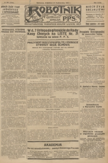 Robotnik : centralny organ P.P.S. R.32, № 300 (31 października 1926) = № 3100