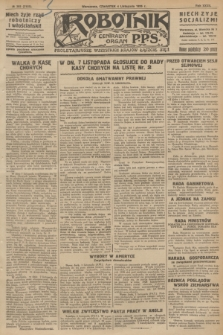 Robotnik : centralny organ P.P.S. R.32, № 303 (4 listopada 1926) = № 3103