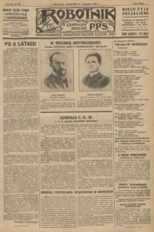 Robotnik : centralny organ P.P.S. R.32, № 310 (11 listopada 1926) = № 3110
