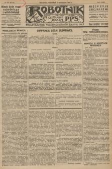 Robotnik : centralny organ P.P.S. R.32, № 313 (14 listopada 1926) = № 3113