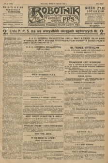 Robotnik : centralny organ P.P.S. R.34, nr 11 (11 stycznia 1928) = nr 3208