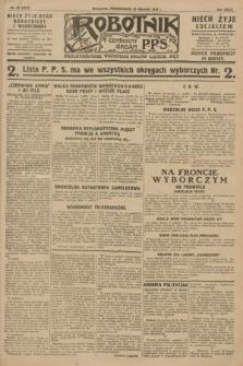 Robotnik : centralny organ P.P.S. R.34, nr 23 (23 stycznia 1928) = nr 3220