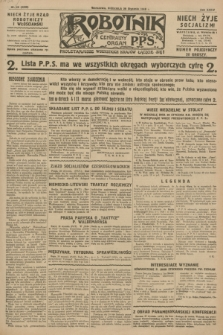 Robotnik : centralny organ P.P.S. R.34, nr 29 (29 stycznia 1928) = nr 3226