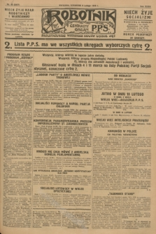 Robotnik : centralny organ P.P.S. R.34, nr 40 (9 lutego 1928) = nr 3237