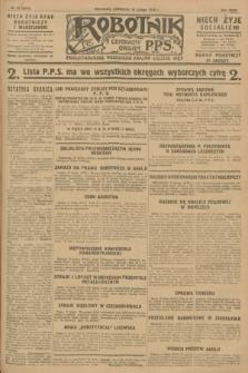 Robotnik : centralny organ P.P.S. R.34, nr 47 (16 lutego 1928) = nr 3244