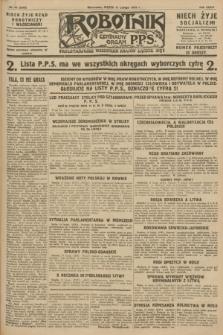 Robotnik : centralny organ P.P.S. R.34, nr 48 (17 lutego 1928) = nr 3245