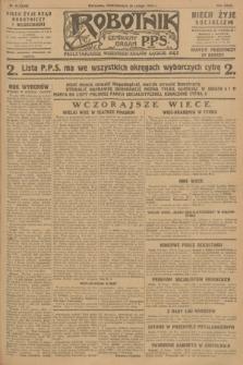 Robotnik : centralny organ P.P.S. R.34, nr 51 (20 lutego 1928) = nr 3248