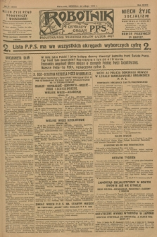 Robotnik : centralny organ P.P.S. R.34, nr 57 (26 lutego 1928) = nr 3254