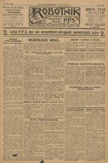 Robotnik : centralny organ P.P.S. R.34, nr 58 (27 lutego 1928) = nr 3255