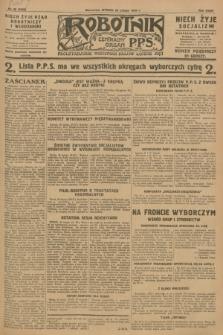 Robotnik : centralny organ P.P.S. R.34, nr 59 (28 lutego 1928) = nr 3256