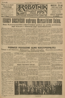Robotnik : centralny organ P.P.S. R.34, nr 88 (28 marca 1928) = nr 3283