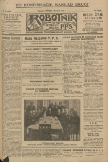 Robotnik : centralny organ P.P.S. R.34, nr 93 (1 kwietnia 1928) = nr 3288 (po konfiskacie nakład drugi)
