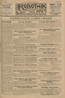 Robotnik : centralny organ P.P.S. R.34, nr 108 (18 kwietnia 1928) = nr 3303