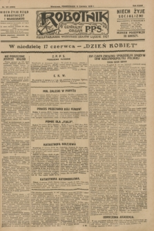 Robotnik : centralny organ P.P.S. R.34, nr 161 (11 czerwca 1928) = nr 3355