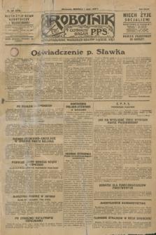 Robotnik : centralny organ P.P.S. R.34, nr 180 [i.e. 181] (1 lipca 1928) = nr 3379