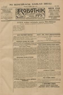 Robotnik : centralny organ P.P.S. R.34, nr 189 [i.e. 184] (3 lipca 1928) = nr 3383 [i.e. 3382] (po konfiskacie nakład drugi)