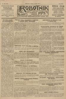 Robotnik : centralny organ P.P.S. R.34, nr 208 (27 lipca 1928) = nr 3316