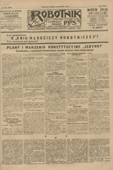 Robotnik : centralny organ P.P.S. R.34, nr 271 (28 września 1928) = nr 3478