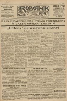 Robotnik : centralny organ P.P.S. R.34, nr 287 (15 października 1928) = nr 3495