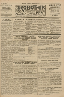 Robotnik : centralny organ P.P.S. R.34, nr 299 (23 października 1928) = nr 3506