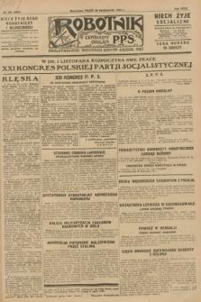 Robotnik : centralny organ P.P.S. R.34, nr 302 (26 października 1928) = nr 3509