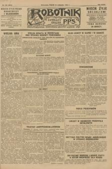 Robotnik : centralny organ P.P.S. R.34, nr 324 (16 listopada 1928) = nr 3531